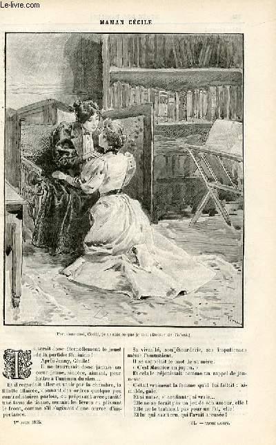 Le musée des familles - édition populaire hebdomadaire -  livraison n°21 - Le lion de Camors,suite par Louis de Carters.