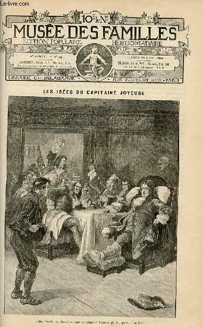 Le musée des familles -  édition populaire hebdomadaire-  livraison n°25 - Les idées du capitaine Joyeuse par S.E. Robert.