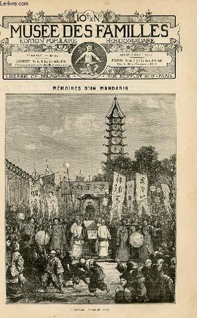 Le musée des familles -  édition populaire hebdomadaire -  livraison n°32 - Mémoires d'un mandarin par Eugène Muller,suite.
