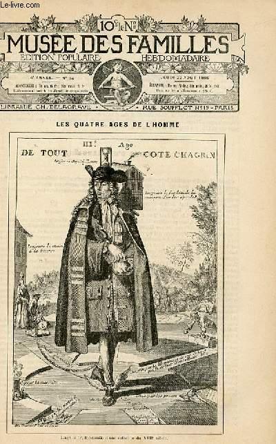 Le musée des familles -  édition populaire hebdomadaire -  livraison n°34 - Les quatres âges de l'homme,suite - l'âge mur (petit article de quelques lignes).