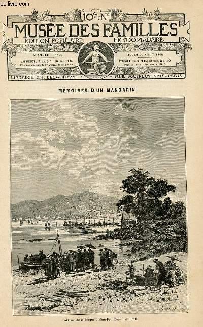 Le musée des familles -  édition populaire hebdomadaire-  livraison n°35 -  Mémoires d'un mandarin par Eugène Muller,suite.