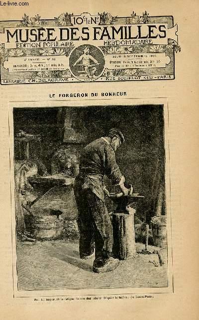 Le musée des familles - édition populaire hebdomadaire -  livraison n°36 - Le forgeron du bonheur par Barancy.