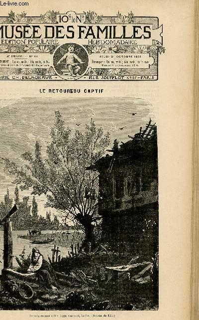 Le musée des familles -  édition populaire hebdomadaire -  livraison n°44 - Le retour du captif par Victor Magne.
