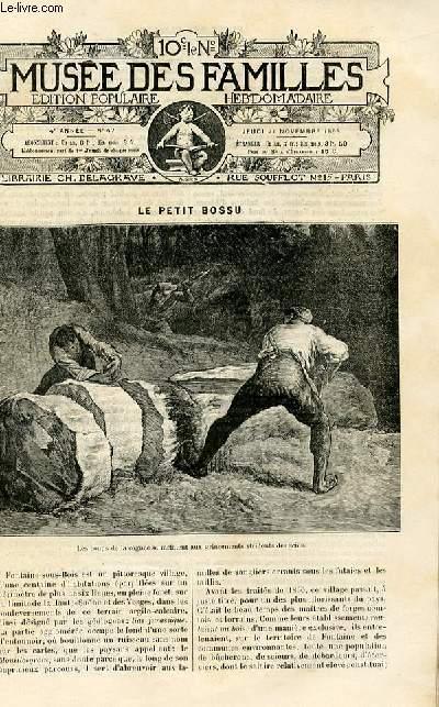 Le musée des familles -  édition populaire hebdomadaire -  livraison n°47 - Le petit bossu par Meunier.