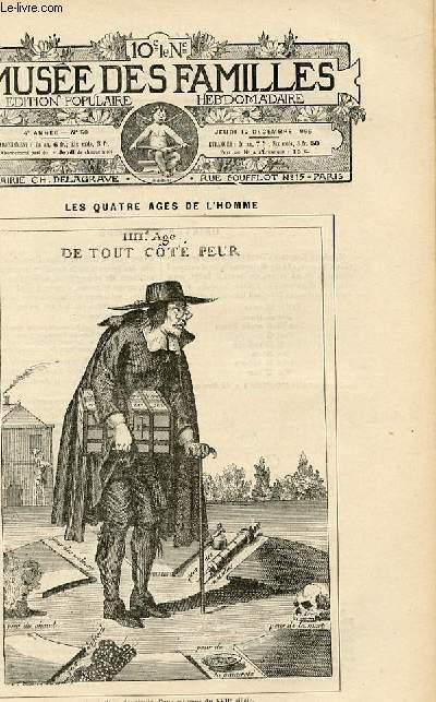 Le musée des familles - édition populaire hebdomadaire-  livraison n°50 - Les quatre âges de l'homme, suite - la vieillesse (petit article de quelques lignes).
