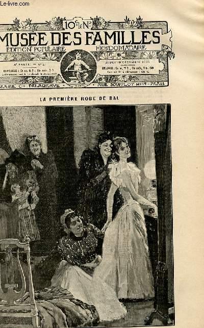 Le musée des familles -  édition populaire hebdomadaire -  livraison n°51 - La première robe de bal par Henriette Bezançon.