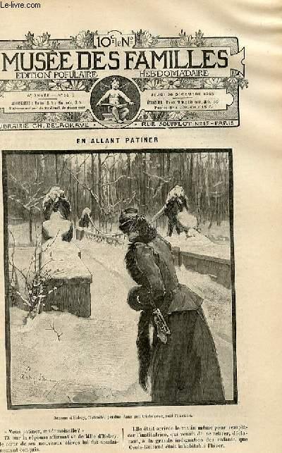 Le musée des familles -  édition populaire hebdomadaire-  livraison n°52 - En allant patiner.