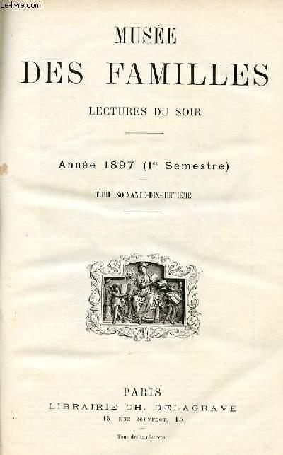Le musée des familles - lectures du soir - livraison n°01 à 24 PREMIER SEMESTRE
