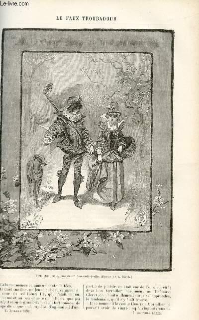 Le musée des familles - lectures du soir - livraison n°04 - Le faux troubadour par Maurice Champagne.