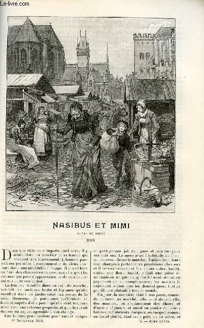 Le musée des familles - lectures du soir - livraisons n°17 et 18 - Nasibus et Mimi , conte de jadis par W.H. à suivre.