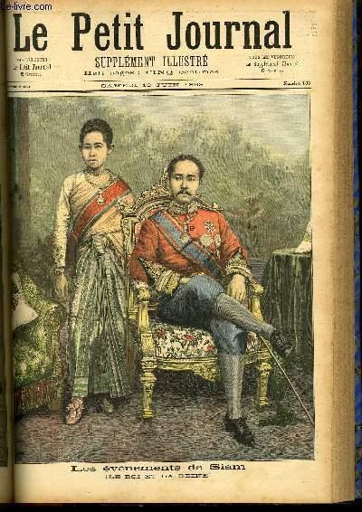le petit journal suppl ment illustr num ro 133 les evenements de siam le roi et la reine. Black Bedroom Furniture Sets. Home Design Ideas
