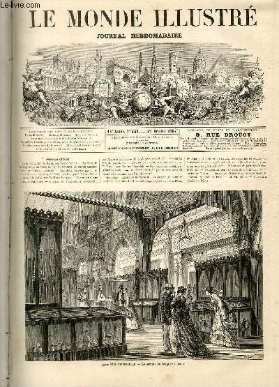 LE MONDE ILLUSTRE N°548 - Exposition universelle, La section de l'empire ottoman.