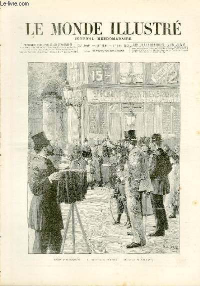 LE MONDE ILLUSTRE N°1890 Paris Pittoresque