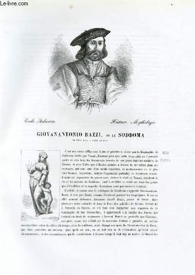 Biographie de Giovanantonio Bazzi, dit le Soddoma (né vers 1474, mort en 1549) ; Ecole Italienne ; Histoire, Mythologie ; Extrait du Tome 5 de l'Histoire des peintres de toutes les écoles.
