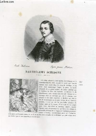 Biographie de Barthélemy Schidone (né vers 1570, mort en 1615) ; Ecole Italienne ; Sujets pieux, Histoire ; Extrait du Tome 5 de l'Histoire des peintres de toutes les écoles.
