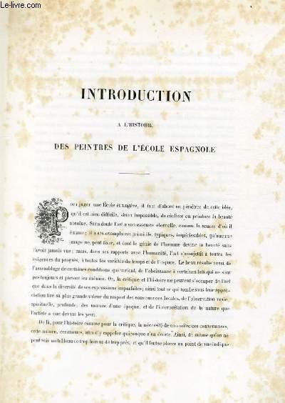 Introduction à l'Histoire des peintres de l'Ecole Espagnole