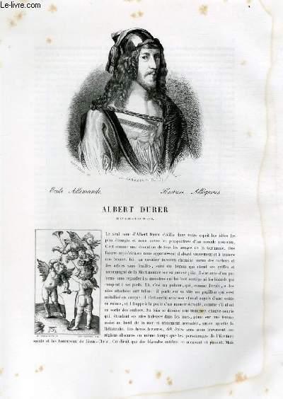 Biographie d'Albert Durer (1471-1528) ; Ecole Allemande ; Histoire, Allégories ; Extrait du Tome 8 de l'Histoire des peintres de toutes les écoles.