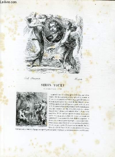 Biographie de Simon Vouet (1590-1649) ; Ecole Française ; Histoire ; Extrait du Tome 11 de l'Histoire des peintres de toutes les écoles.