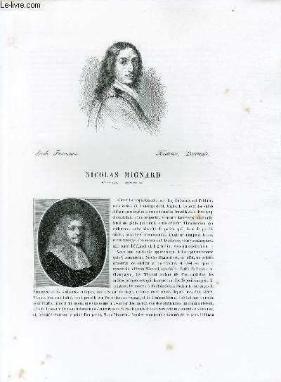 Biographie de Nicolas Mignard (1605-1668) ; Ecole Française ; Histoire, Portraits ; Extrait du Tome 11 de l'Histoire des peintres de toutes les écoles.