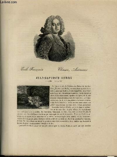 Biographie de Jean-Baptiste Oudry (1686-1755) ; Ecole Française ; Chafse, Animaux ; Extrait du Tome 12 de l'Histoire des peintres de toutes les écoles.