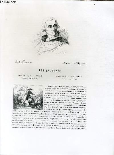 Biographie les Lagrenée ; Ecole Française ; Histoire, Allégories ; Extrait du Tome 12 de l'Histoire des peintres de toutes les écoles.