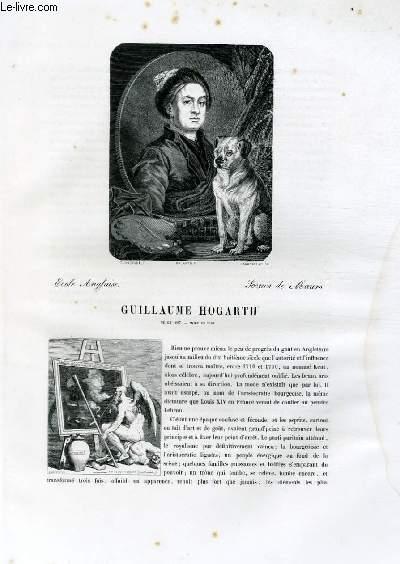Biographie de Guillaume Hogarth (1697-1764) ; Ecole Anglaise ; Scènes de Moeurs ; Extrait du Tome 14 de l'Histoire des peintres de toutes les écoles.