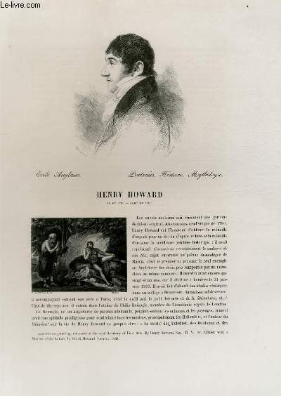Biographie de Henry Howard (1769-1847) ; Ecole Anglaise ; Portraits, Histoire, Mythologie ; Extrait du Tome 14 de l'Histoire des peintres de toutes les écoles.