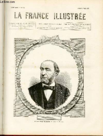 LA FRANCE ILLUSTREE N° 223 - M.Saint-René Taillandier, dessin de Mathieu.