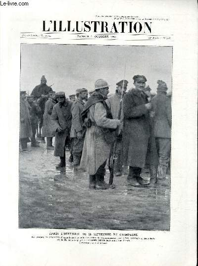 L'ILLUSTRATION JOURNAL UNIVERSEL N° 3787 - Après l'offensive du 25 septembre en Champagne.