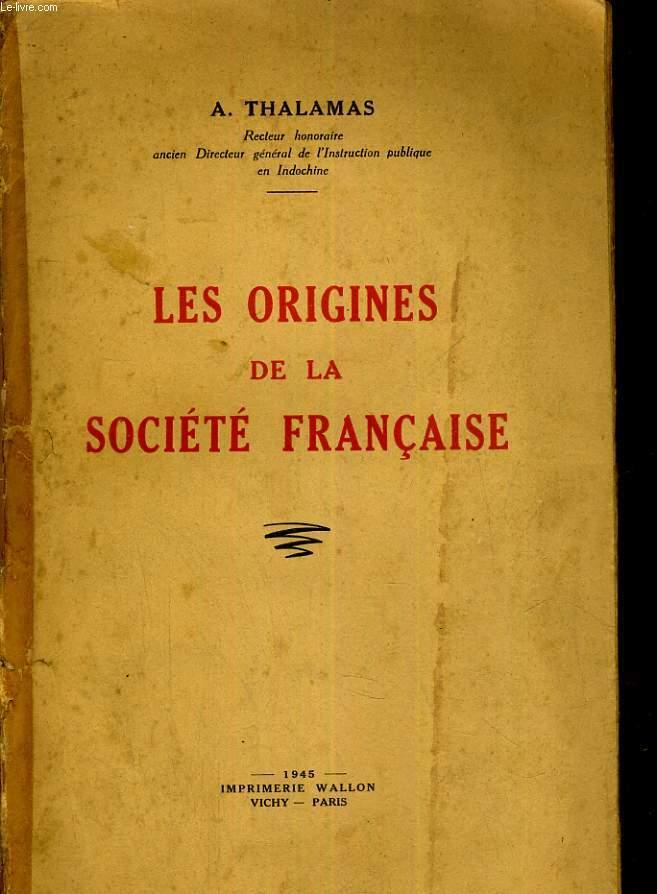 Les origines de la société française