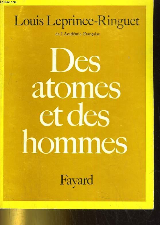 Des atomes et des hommes