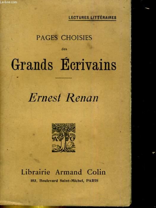 Pages choisies des grands écrivains. ERNEST RENAN