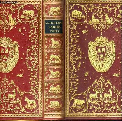 Fables de La Fontaine, avec les figures d'Oudry parues dans l'édition Desaint et Saillant de 1755. Tome premier