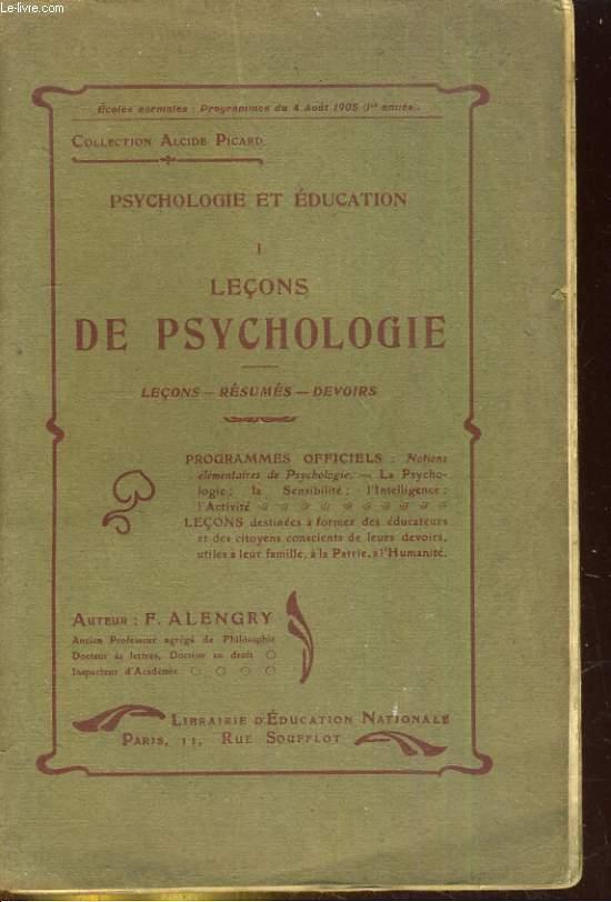 Psychologie et Education - I - Leçons de psychologie