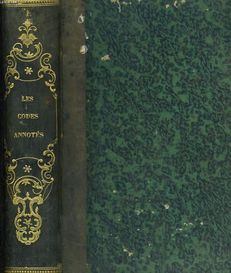 Les codes annotés de Sirey - Ier Volume - Code Civil
