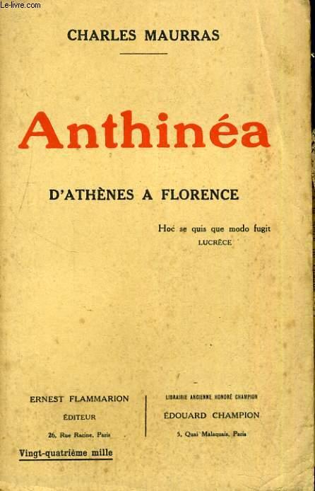 Anthinéa - D'Athènes à Florence