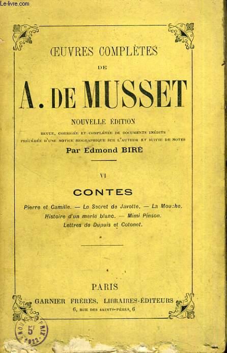 Oeuvres complètes de Alfred de Musset - Tome VI : Contes