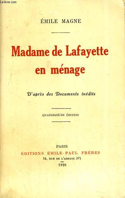 Madame de Lafayette en ménage