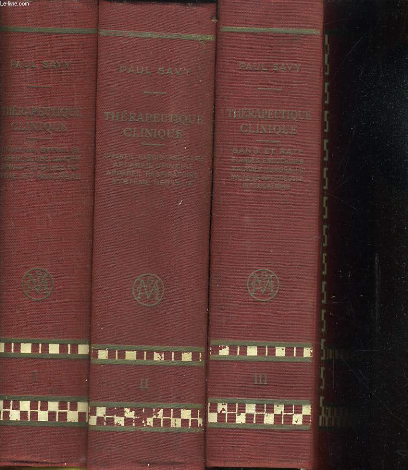 Traité de thérapeutique clinique en 3 tomes