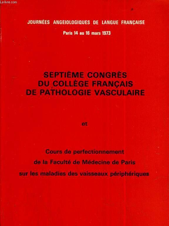 Septième congrès du collège francais de pathologie vasculaire