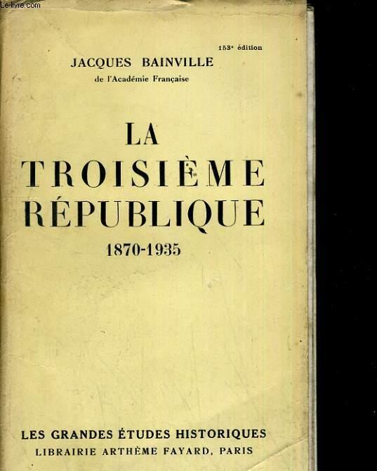 La troisième république 1870- 1935