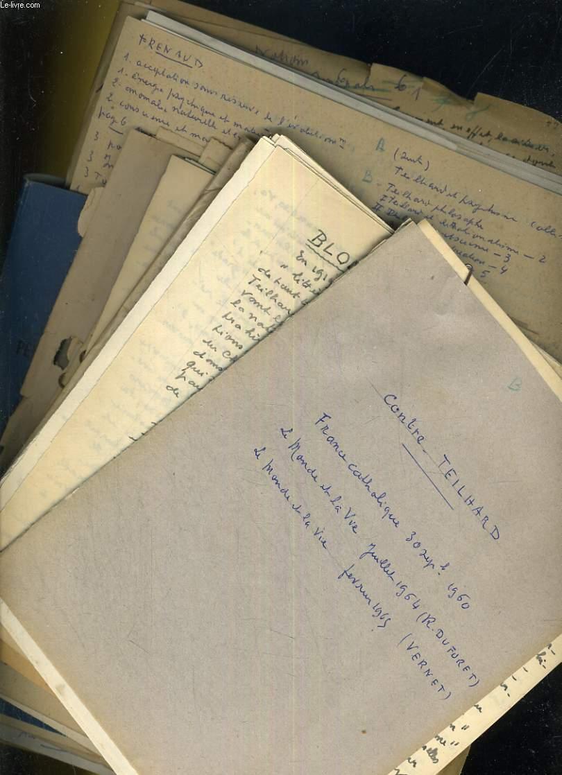 Divers traités contre Teilhard de Chardin