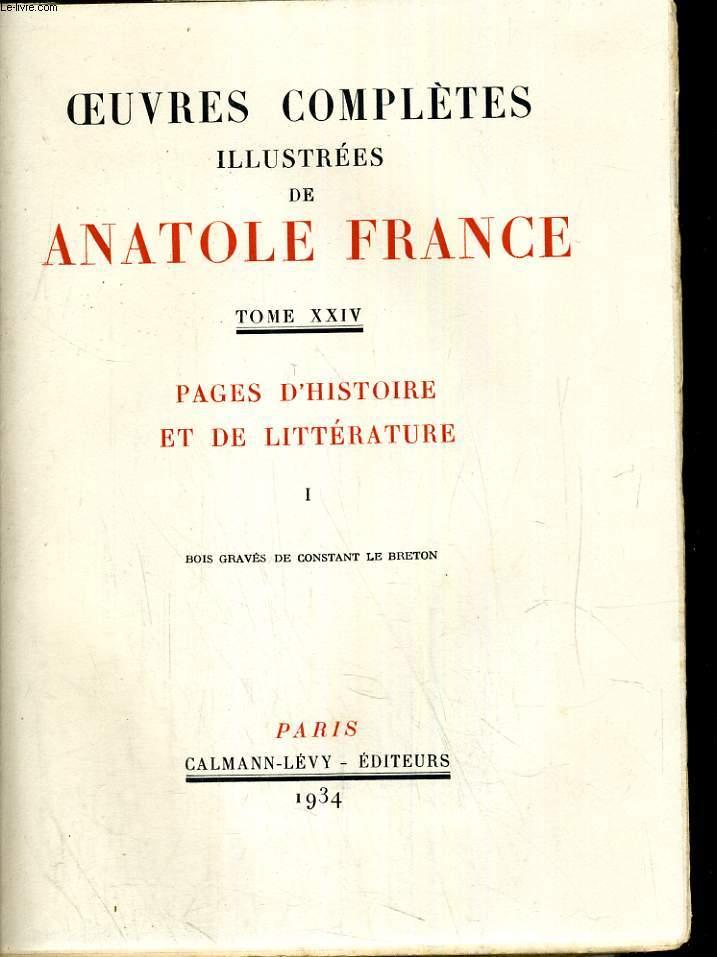 Pages d'histoire et de littérature 1