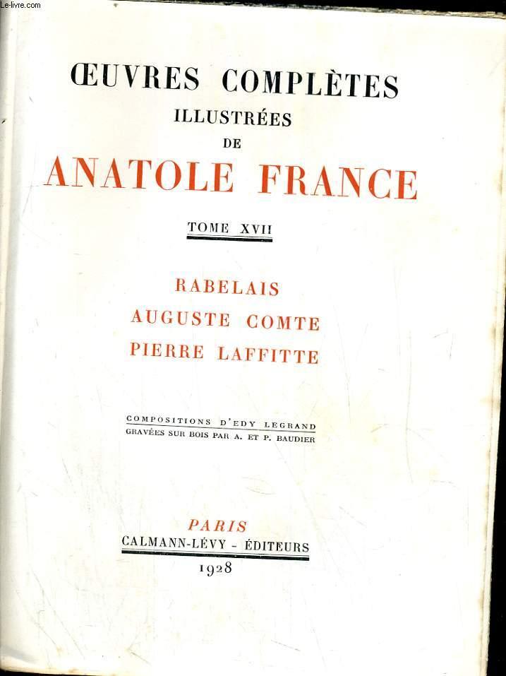 Rabelais. Auguste Comte. Pierre Lafitte