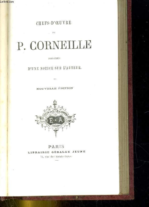 Chefs'd'oeuvre de P Corneille