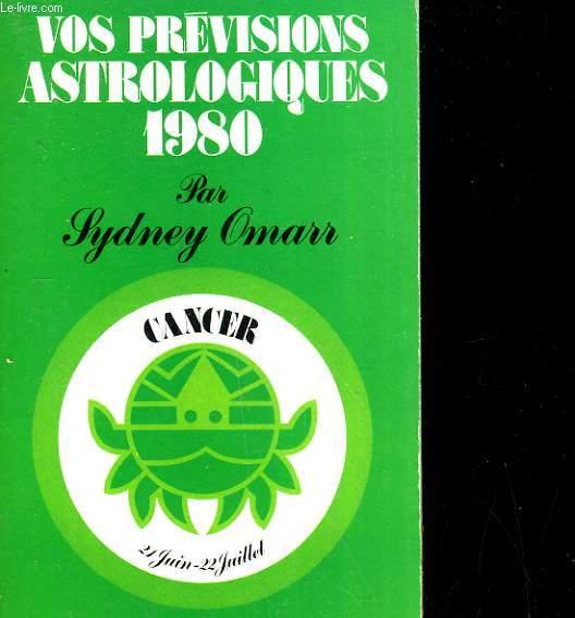 Vos prévisions astrologiques 1980: CANCER