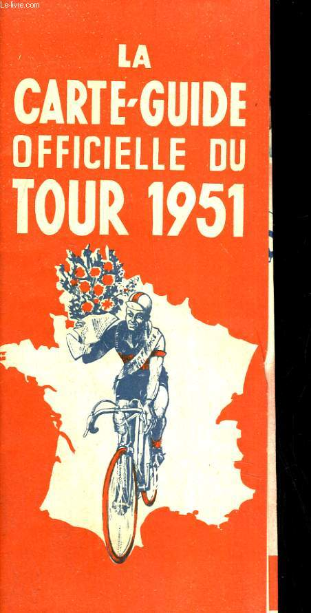 La carte-guide officielle du tour 1951