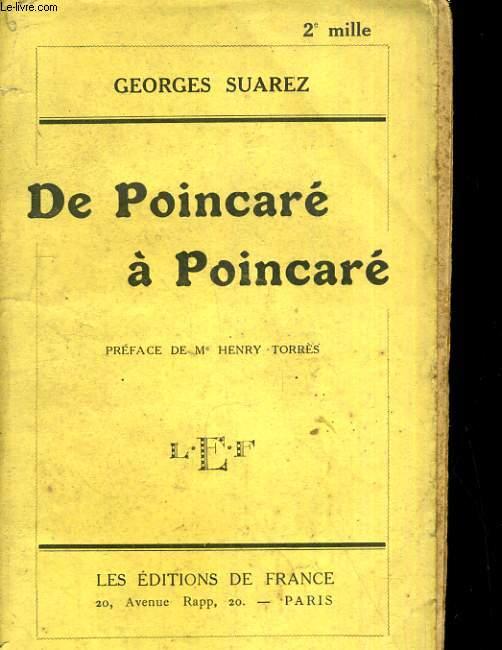 De Poincarré à Poincarré