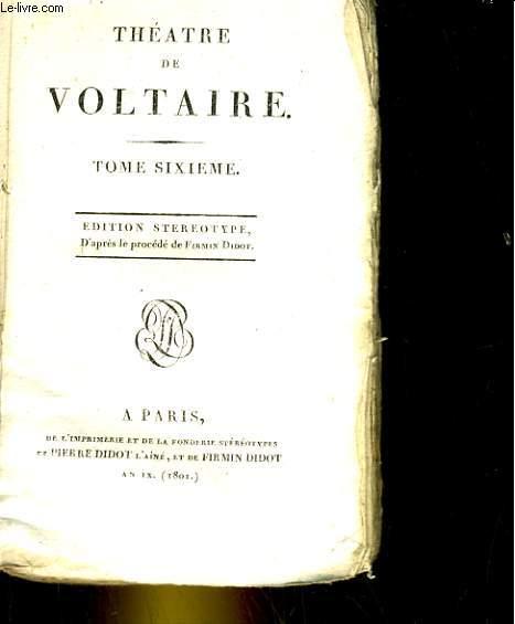 Théatre, tome 6. Nanine ou le Préjugé vaincu.