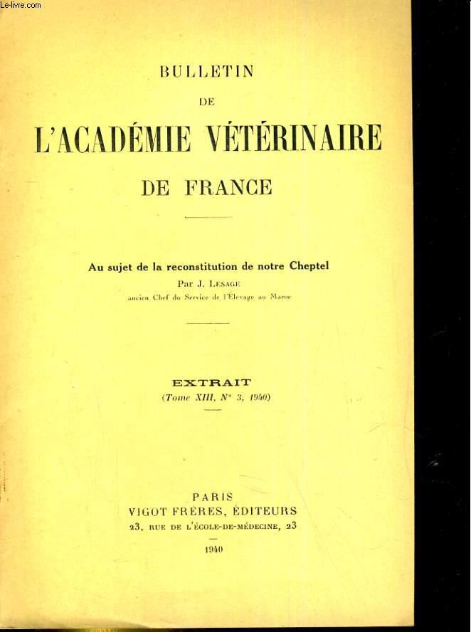 Bulletin de l'Académie vétérinaire de France Extrait, tome XV, N°1 : Cultures dans le phosphate